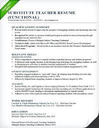 Substitute Teacher Resume Inspiration 810 Effective Resume Samples Substitute Teacher Resume Sample Functional