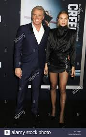 November 14, 2018 - New York City, New York, U.S. - Actor DOLPH LUNDGREN  and his daughter IDA LUNDGREN attend the World Premiere of 'Creed ll' held  at the AMC Lincoln Square