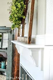 build a mantel i love how this simple mantel changes the fireplace find out how to