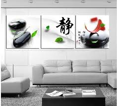 modern painting decorative art picturepaint on canvas print falling leaves petals smooth dark pebbles