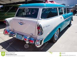 1956 Chevy Bel Air Station Wagon Editorial Stock Image - Image of ...