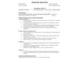 Writing Skills For Resume Emelcotest Com