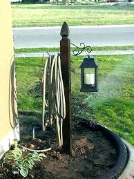 free garden hose holder stake standing hanger cast iron reels