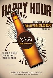 Happy Hour Flyer Beer Promotion Happy Hour Flyer Template Flyer For Happy