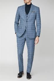 Light Blue Windowpane Suit Blue Windowpane Heritage Tweed Suit