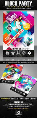 Block Party Flyers Templates Block Party Flyer Graphics Designs Templates