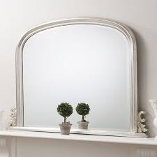 thornby silver over mantle mirror