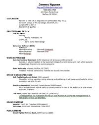 How To Make A Good High School Resume Student Resume Examples First Job High School Resumes Sample 1