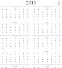 2015 Calendar Page One Year Calendar On One Page Barca Fontanacountryinn Com
