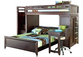 full size bunk bed with desk. Full Size Wood Loft Bed Bedroom Decoration Kids Twin Desk Combo Bunk . With