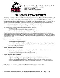How To Write Resume Career Objective Career Change Resume Objective