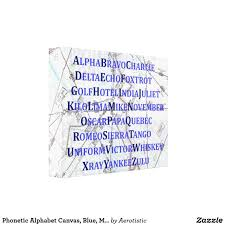 The symbol from the international phonetic alphabet (ipa), as used in phonetic transcriptions in modern dictionaries for english learners — that is, in a. Phonetic Alphabet Canvas Blue Map Home Gifts Canvas Print Zazzle Com In 2020 Canvas Prints Phonetic Alphabet Home Gifts