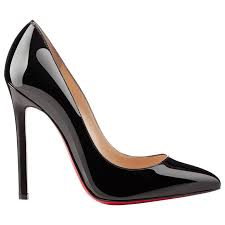 louboutin new sold out black patent leather high heels pumps in box for