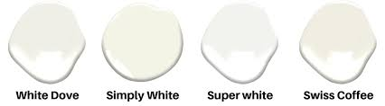 I agree with the suggestion above about behr swiss coffee as an offwhite. White Paint Color Guide 2021 White Dove Vs Swiss Coffee Vs Alabaster