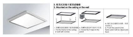 images of led panel installation instruction