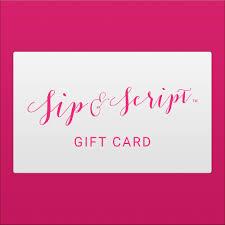 sip script gift card