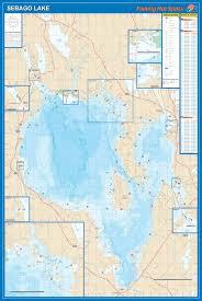 Sebago Lake Fishing Map