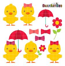 cute duck clipart. Interesting Duck Cute Ducks Clip Art Set Inside Duck Clipart