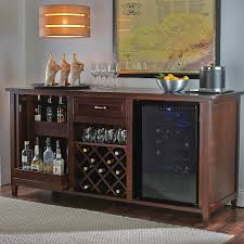 Cabinet With Wine Cooler Firenze Wine And Spirits Credenza With 28 Bottle Touchscreen Wine
