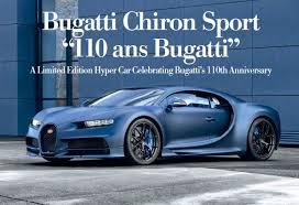 The baby ii is designed commemorate the brand's 110th anniversary. Bugatti Chiron Sport 110 Ans Bugatti Pressreader