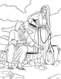 Samaritaanse Vrouw Kleurplaten Nieuwe Testament Bible Coloring