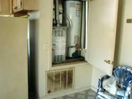 water heater closet astonishing water heater closet door requirements gas smells water heater closet door water