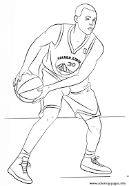 Stephen Curry Nba Sport Coloring Pages Printable