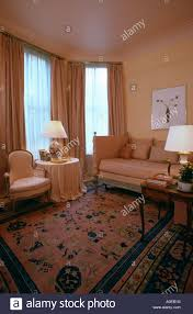 Peach Living Room Toning Peach Coloured Sofa Curtains And Walls In Livingroom With