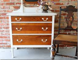 two tone painted furniture. twotone vintage dresser drastic furniture makeover petticoat junktion two tone painted e