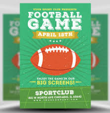 American Football Flyer Templates For Football Events | Flyerheroes