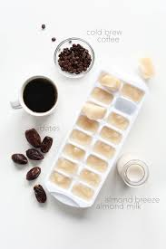 starbucks caramel frappuccino recipe.  Caramel Almond Milk Ice Cubes Dates And Coffee For Making A Vegan Caramel  Frappuccino With Starbucks Recipe