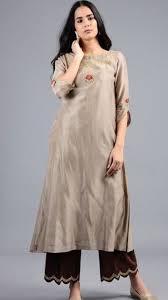 Pakistani Silk Kurtis Designs Beautiful Khadi Silk Kurti With Beautiful Embroidery