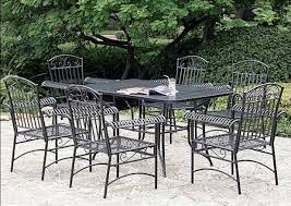stunning black metal patio furniture with chiars