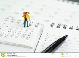 Travel Calendar Travel Vacation Or Holiday Calendar Year Plan Concept Miniature