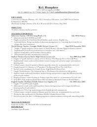 It Teacher Resume History Teacher Resume