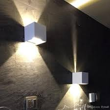 indoor wall sconces. Shop Wall Lamps Online, New Cob 7w 12w Led Aluminum Sconces Adjustable Angle Surface Mounted Outdoor Cube Lamp Indoor Up \u0026 Down