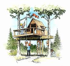 exquisite easy treehouse plans free awesome tree house building