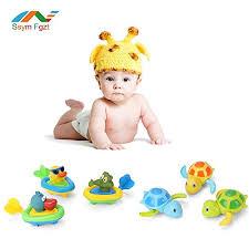 ssym fgzt fu t baby bath bathtub toys cute kids bathing bath toy pull go animal