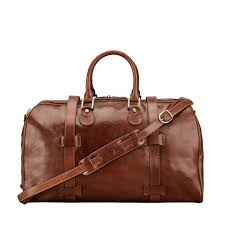 fine leather overnight bag for men