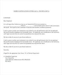 Notice Of Termination Of Employment Sample Notice Of Termination Of ...