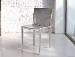 unico modern accademia dining chair in choice of real leather finish thumbnail