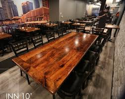 Mennonite Furniture Kitchener Reclaimed Wood Restaurant Table In Toronto Reclaimed Hemlock