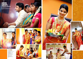 kerala style hindu wedding album pages designed in 17\