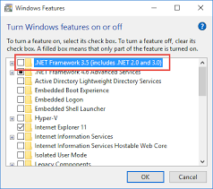 enabling net framework 3 5 1 in