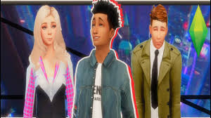 Spiderman into the Spiderverse : Create a Sim{Sims 4} - YouTube