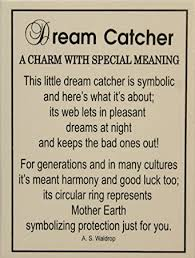 Meaning Behind Dream Catchers Amazon Tiny Little Dream Catcher Pocket Charm With Story Card 49