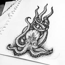 тату эскизы осьминог