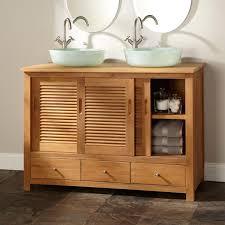 bathroom cabinets double sink. Bathroom Vanities Double Vessel Sink Astonishing On In 48 Arrey Teak Vanity Natural Cabinets