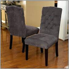 marvelous idea dark grey dining chairs studded plush design ring back sweet looking brown leather