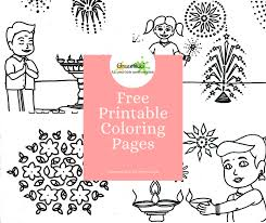 Your child will have a blast letting their creativity flow while filling in one of our printable coloring pages. Free Printable Kids Colouring Pages Diwali Theme Greentikki